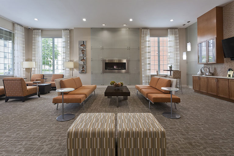 Dwell Cherry Hill luxury clubhouse interior