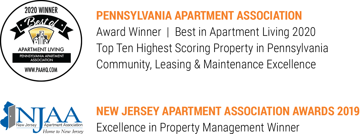 Dwell Cherry Hill apartment awards