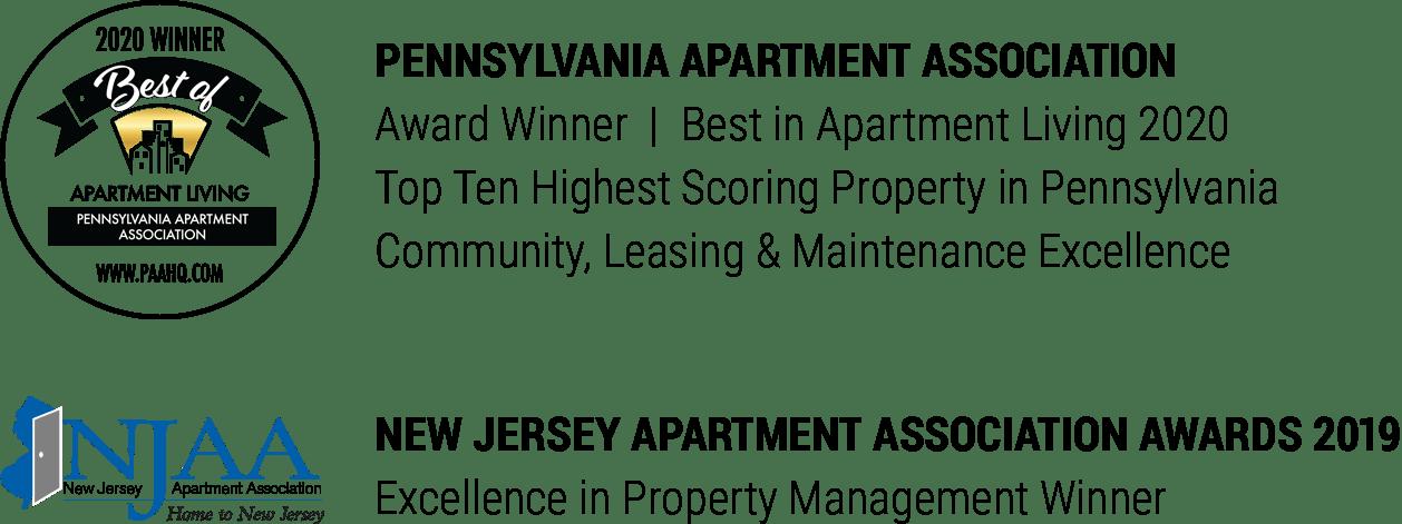 Dwell Cherry Hill apartment awards